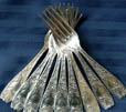 Silver flatware, forks